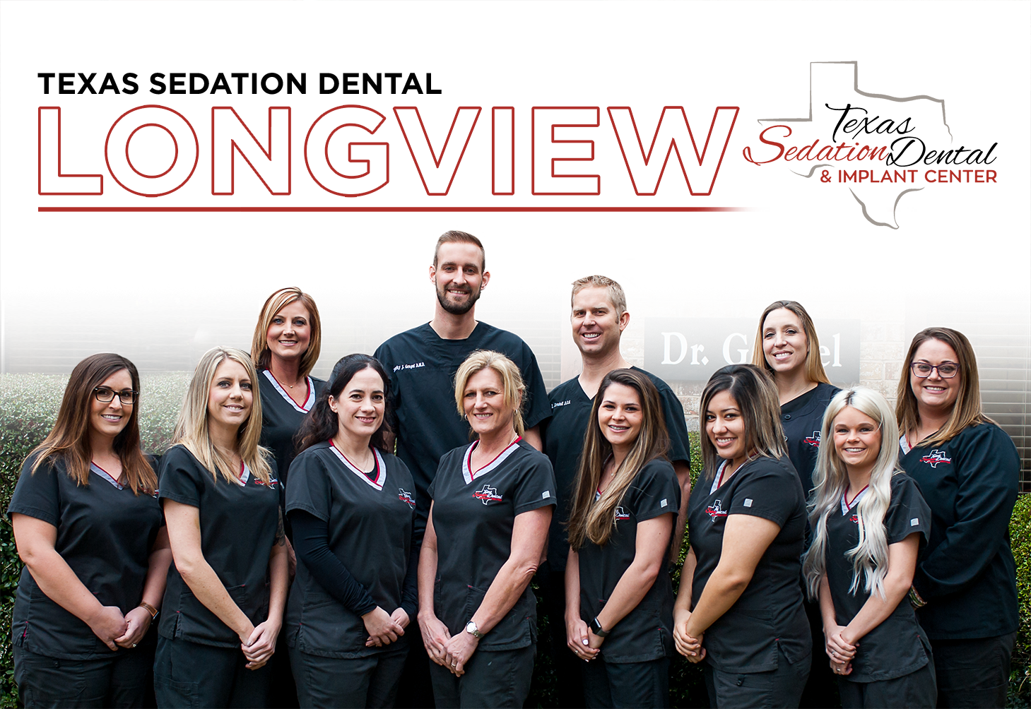 Longview Transparent Staff Group Button Texas Dental and Implant Center Sedation Shreveport Tyler Longview Dallas